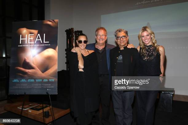 Donna Karan Rob Wergin Deepak Chopra and Kelly Noonan Gores attend Premiere Screening Of Heal Documentary As Part Of Urban Zen Holiday Experience...