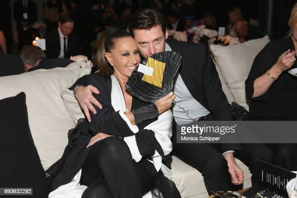 Donna Karen and Hugh Jackman attend the 2017 Stephan Weiss Apple Awards on June 7 2017 in New York City