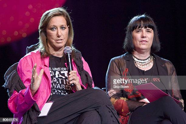 Donna Karen founder and chief designer of the International company that bears her name and founder of the Urban Zen Foundation with Eve Ensler VDay...