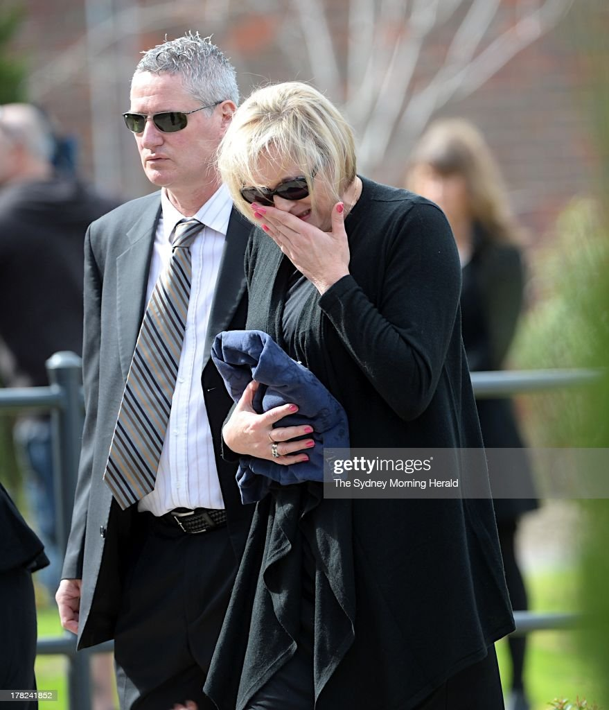 Donna Lane, mother of Chris Lane shows her emotion during the funeral of her son Chris Lane at Saint Thereses Parish Church on August 28, 2013 in Melbourne, Australia. Australian Chris Lane was shot dead in Duncan, Oklahoma. Three teenage males have now been accused of the murder.