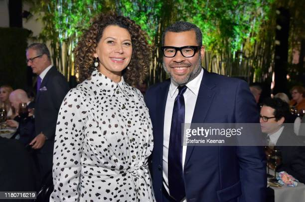 Donna Langley and Jordan Peele attend Hammer Museum's 17th Annual Gala In The Garden on October 12 2019 in Los Angeles California