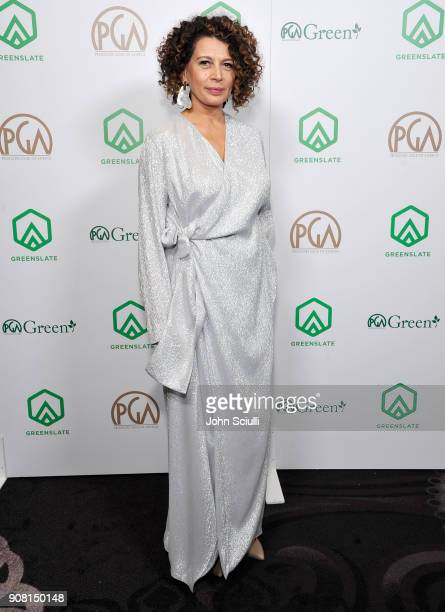 Donna Langley attends the 29th Annual Producers Guild Awards supported by GreenSlate at The Beverly Hilton Hotel on January 20 2018 in Beverly Hills...