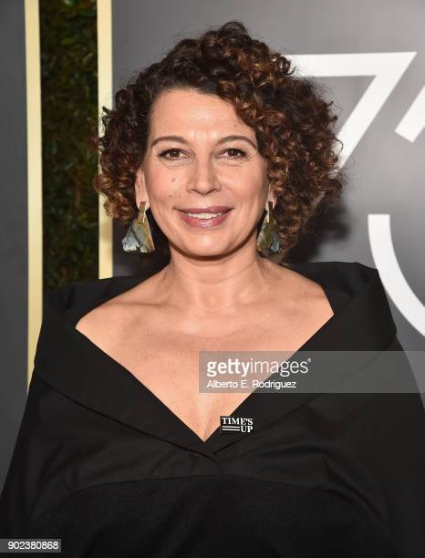 Donna Langley Chairman of Universal Pictures attends The 75th Annual Golden Globe Awards at The Beverly Hilton Hotel on January 7 2018 in Beverly...