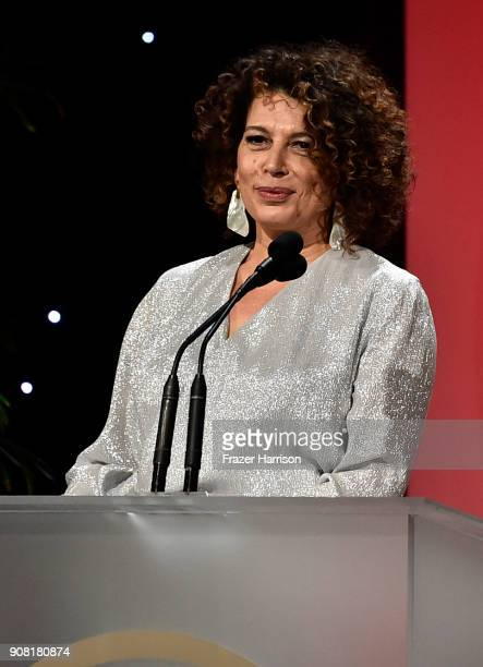Donna Langley on stage at the 29th Annual Producers Guild Awards at The Beverly Hilton Hotel on January 20 2018 in Beverly Hills California