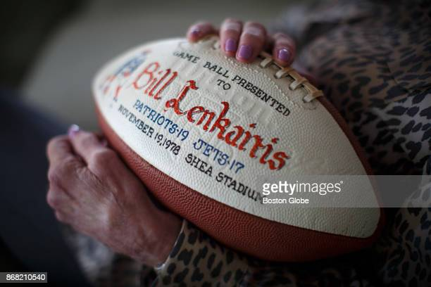 Donna Lenkaitis the widow of former Patriots player Bill Lenkaitis who died over a year ago and was diagnosed posthumously with advanced CTE holds a...