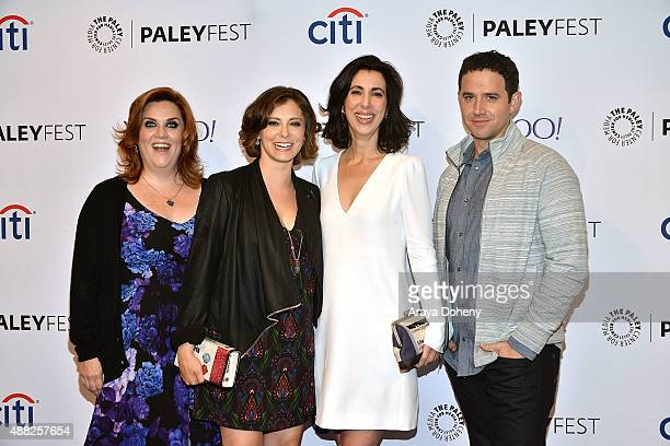 Donna Lynne Champlin, Rachel Bloom, Aline Brosh McKenna and Santino Fontana attend The Paley Center for Media's PaleyFest 2015 Fall TV preview of The...