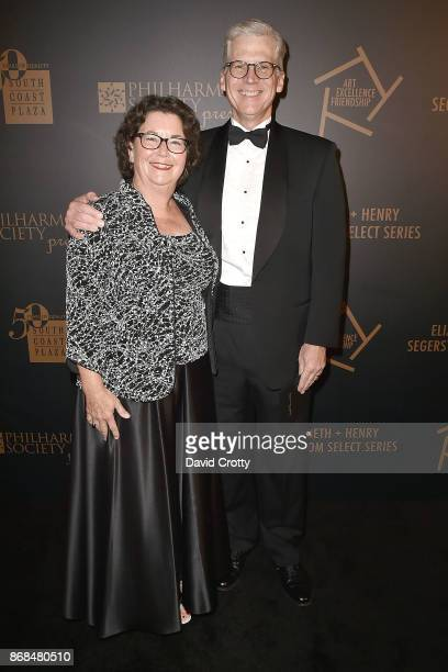 Donna Matrell and Frank Martell attend the Mariinsky Orchestra Concert in honor of Henry Segerstrom and the 50th anniversary of South Coast Plaza on...