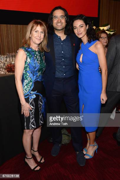 Donna McKay Andy Dunn and Manuela Zoninsein attend the PHR 2017 Gala at Jazz at Lincoln Center on April 18 2017 in New York City