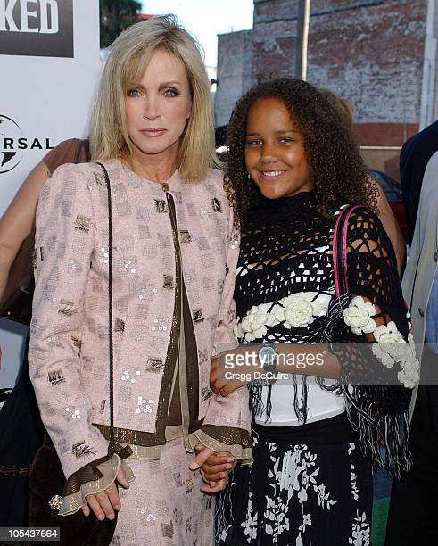 Donna Mills and daughter Chloe during Wicked Los Angeles Opening Night Arrivals at The Pantages Theatres in Los Angeles California United States