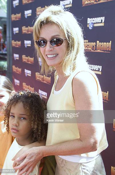 Donna Mills and her daughter Chloe at the premiere of Discovery Channel's 'When Dinosaurs Roamed America' at the Bing Theater and afterparty at the...