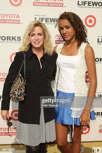 Donna Mills and her daughter Chloe attend Life Out Loud 4 at the Sunset Gower Studios on June 13 2009 in Los Angeles California