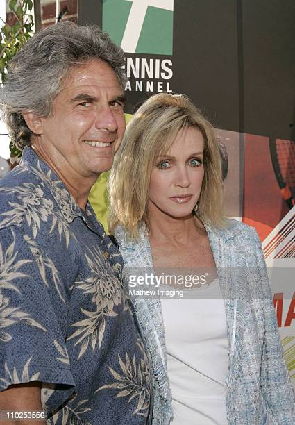 Donna Mills and Larry Gilman during Tennis Channel's No Strings Bryan Bros World Premiere Arrivals at Westwood Brewing Company in Westwood California...