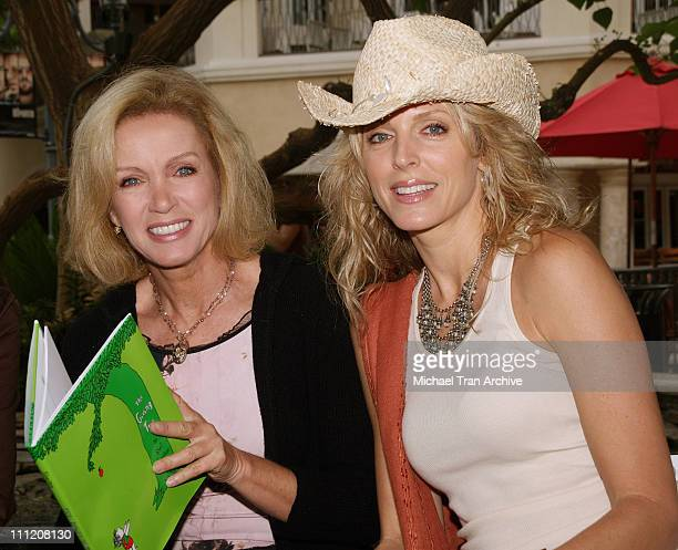Donna Mills and Marla Maples during The Screen Actors Guild Presents Premiere Literary Event at The Grove in Los Angeles California United States