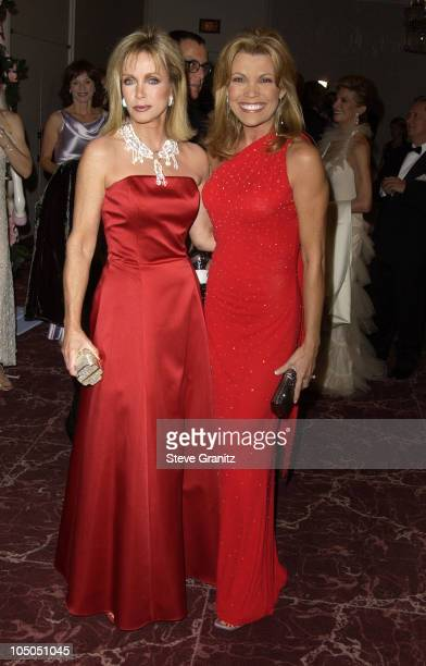 Donna Mills and Vanna White during The 15th Carousel Of Hope Ball VIP Reception at Beverly Hilton Hotel in Beverly Hills California United States