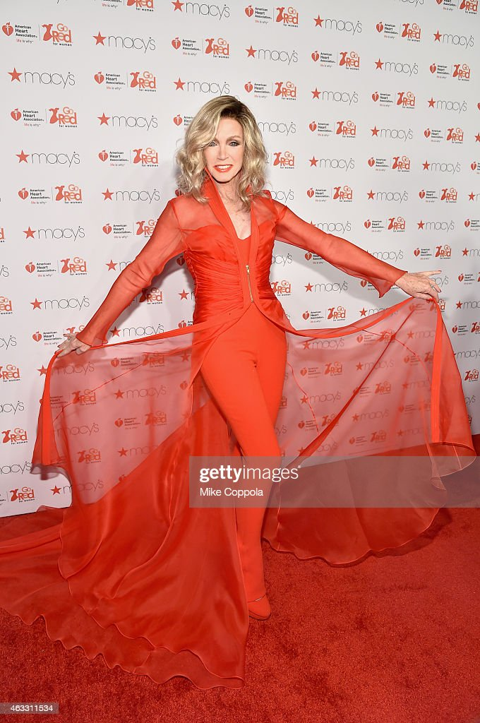 Donna Mills attends the Go Red For Women Red Dress Collection 2015 presented by Macy'sfashion show during Mercedes-Benz Fashion Week Fall 2015 at Lincoln Center on February 12, 2015 in New York City.