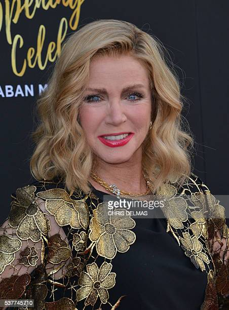 Donna Mills attends the Television Academy 70th Anniversary Celebration in Los Angeles California on June 2 2016 / AFP / CHRIS DELMAS