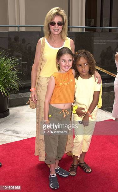 Donna Mills, daughter Emily & Chloe during When Dinosaurs Roamed America Discovery Premiere at Los Angeles County Museum of Art in Los Angeles,...