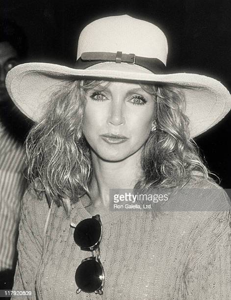 Donna Mills during 1989 US Open Tennis Tournament at Flushing Meadow Park in Queens New York United States