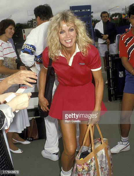 Donna Mills during Celebrity Tennis Game During US Open at Flushing Meadows Park in Queens California United States