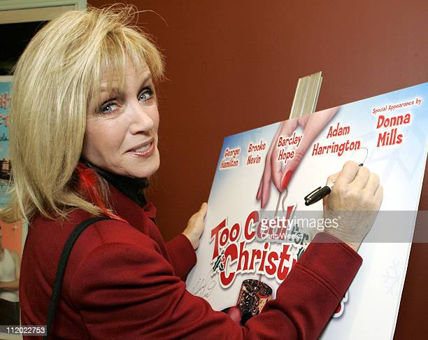 Donna Mills during here TV Premieres Too Cool for Christmas Benefitting Cable Positive at Regent Showcase Theater in Los Angeles California United...