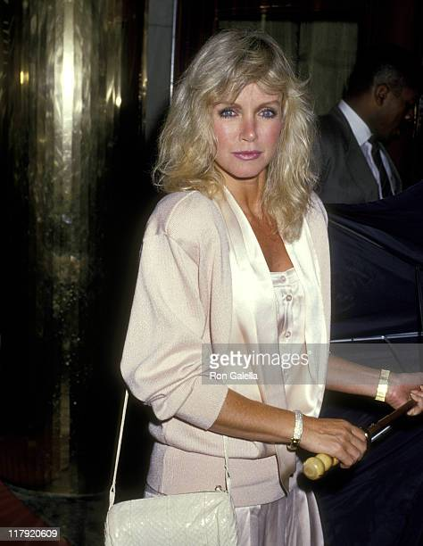 Donna Mills during Party for 1987 US Tennis Open at Regine's in New York City New York United States