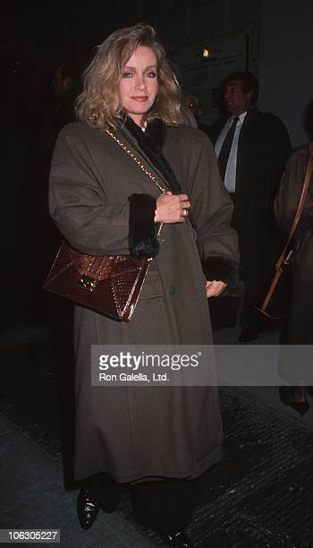 Donna Mills during Performance of Falsettos at Broadway Theater in New York City New York United States