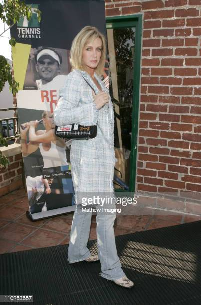 Donna Mills during Tennis Channel's No Strings Bryan Bros World Premiere Arrivals at Westwood Brewing Company in Westwood California United States