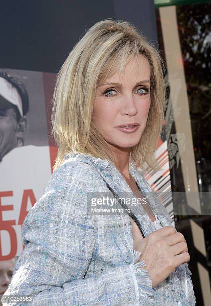 Donna Mills during Tennis Channel's 'No Strings Bryan Bros' World Premiere Arrivals at Westwood Brewing Company in Westwood California United States