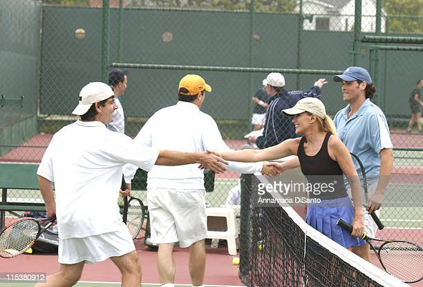 Donna Mills Jaron Lowenstein partners at TJ Martell Tennis Tournament