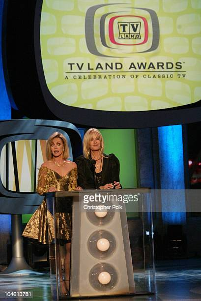 Donna Mills Joan Van Ark during The TV Land Awards Celebration of Classic TV at Hollywood Palladium in Hollywood CA United States