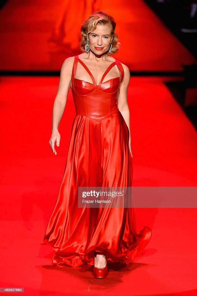 Donna Mills walks the runway at the Go Red For Women Red Dress Collection 2015 presented by Macy's fashion show during Mercedes-Benz Fashion Week Fall 2015 at The Theatre at Lincoln Center on February 12, 2015 in New York City.