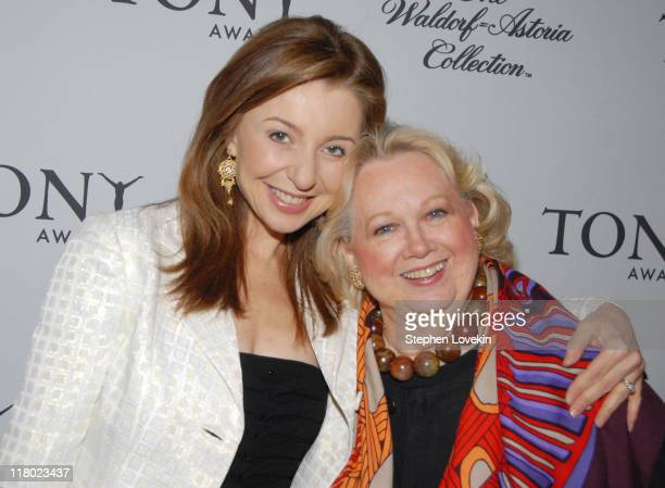 Donna Murphy and Barbara Cook during 60th Annual Tony Awards Cocktail Celebration at The Waldorf Astoria in New York City New York United States