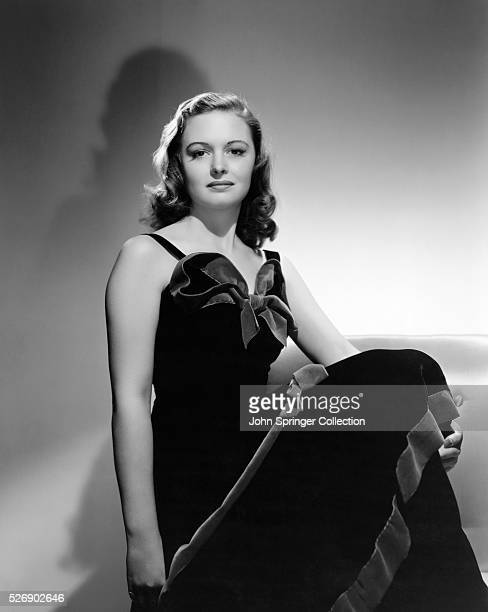 "Donna Reed, former Campus Queen, who started in Metro-Goldwyn-Mayer's ""The Get-Away"" only a few days after signing a long term contract, poses for..."