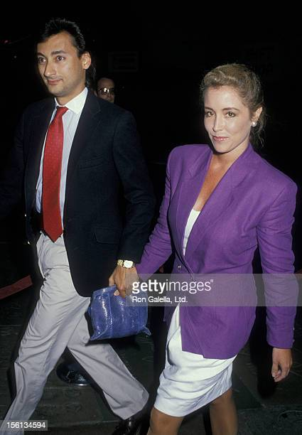 Donna Rice and date James Grant attend the premiere of 'Big Top Pee Wee' on July 21 1988 at Mann Chinese Theater in Hollywood California
