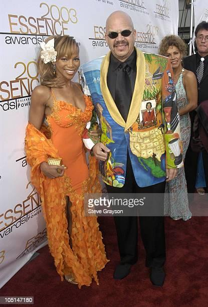 Donna Richardson and Tom Joyner during 2003 Essence Awards Red Carpet at Kodak Theatre in Hollywood California United States