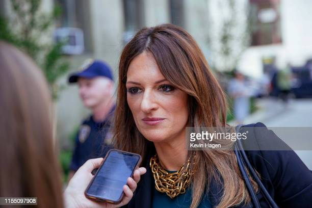 Donna Rotunno, Harvey Weinstein's new defense attorney, talks to reporters following Weinstein's appearance in criminal court on sexual assault...