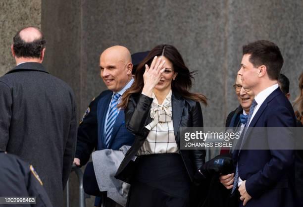 Donna Rotunno lead defense attorney for Harvey Weinstein leaves the Manhattan Criminal Court on February 24 2020 in New York City A Manhattan judge...