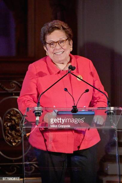 Donna Shalala speaks onstage during the 8th Annual Elly Awards hosted by the Women's Forum of New York at The Plaza Hotel on June 18 2018 in New York...