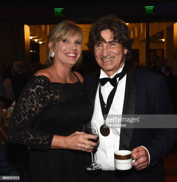 Donna Sterban and Richard Sterban of The Oak Ridge Boys attends the Country Music Hall Of Fame And Museum Hosts Medallion Ceremony To Celebrate 2017...