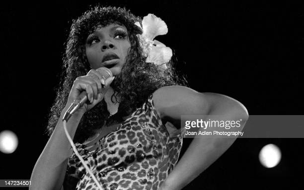 Donna Summer in concert at the Universal Amphitheatre On August 10 1979 in Los Angles California