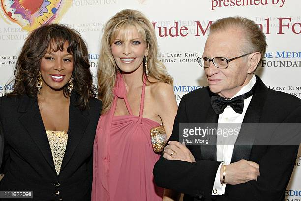 Donna Summer Shawn SouthwickKing and Larry King during An Evening with Larry King and Friends at The Ritz Carlton in Washington DC United States