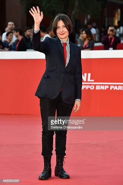 Donna Tartt walks the red carpet during the 10th Rome Film Fest on October 19 2015 in Rome Italy