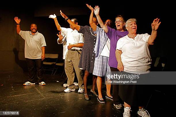 Donna Thornton Lynn Snyder Germaine Payne Dorothy Smithers Lindsey Wilkes and Bernard Crawford with Player's Unlimited a theater group that consists...