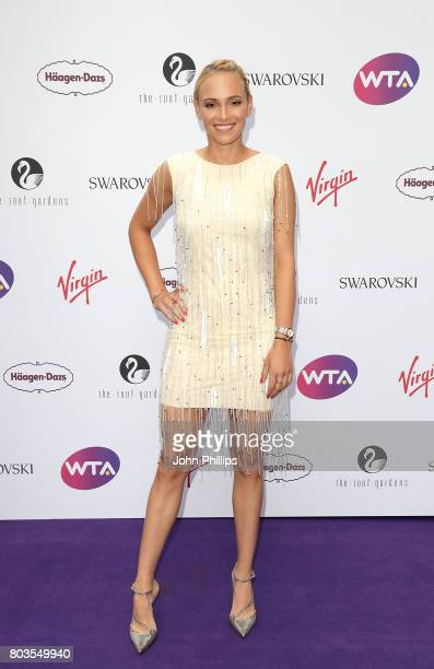 Donna Vekic attends the annual WTA PreWimbledon Party at The Roof Gardens Kensington on June 29 2017 in London United Kingdom