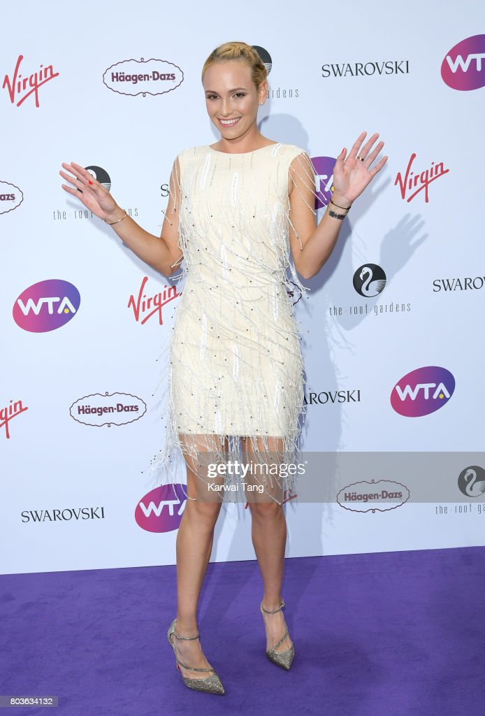 Donna Vekic attends the WTA Pre-Wimbledon party at Kensington Roof Gardens on June 29, 2017 in London, England.