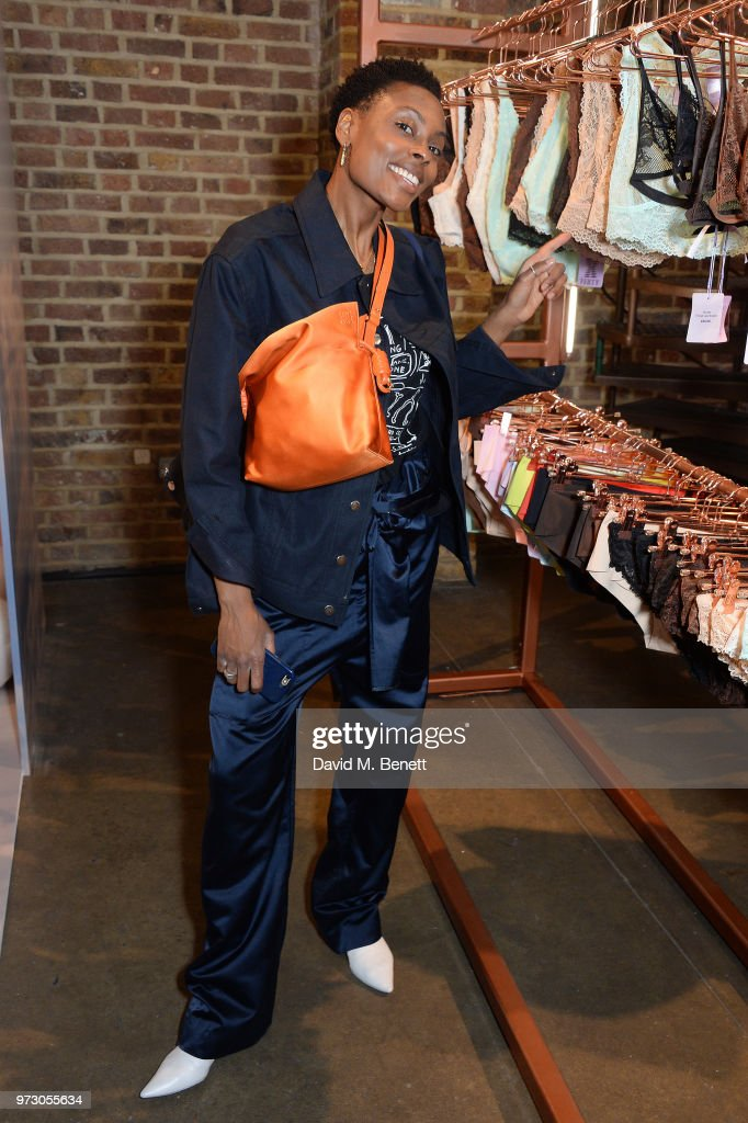 Donna Wallace attends the Savage X Fenty London Pop Up Shop at Shoreditch Studios on June 13, 2018 in London, England.