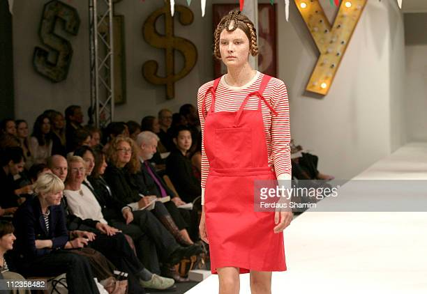 Donna wearing Peter Jensen Spring/Summer 2006 during London Fashion Week Spring/Summer 2006 Peter Jensen Runway and Backstage at Berkeley Square in...