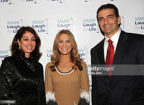 Donna Zaccaro Ullman Cat Greenleaf and MMRF CEO Walter M Capone at the MMRF Laugh for Life event at BB King Blues Club Grill on May 16 2011 in New...