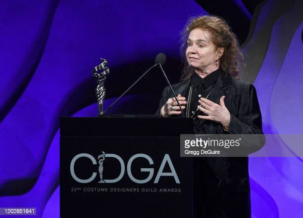 Donna Zakowska accepts the Excellence in Period Television award for 'The Marvelous Mrs Maisel' onstage during the 22nd CDGA at The Beverly Hilton...