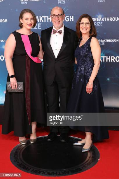 Donna Zuckerberg Edward Zuckerberg and Karen Kempner attend the 2020 Breakthrough Prize Ceremony at NASA Ames Research Center on November 03 2019 in...